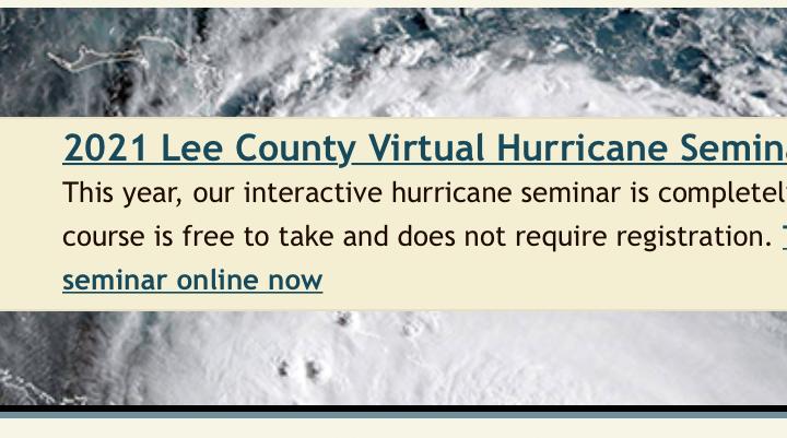 Lee County Hurricane Seminar!!